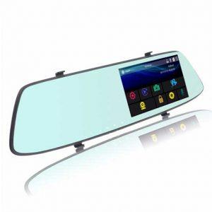 دوربین خودرو آینه ای صفحه لمسی دو لنز