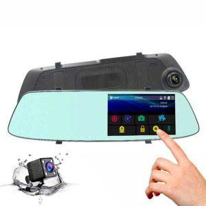 دوربین خودرو صفحه لمسی دو لنز فول