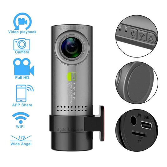 دوربین پشت آینه ای نامحسوس - کد S90 - فروشگاه دوربین خودرو ایمن شرق